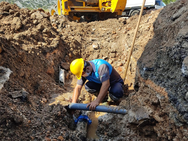 Büyükşehir'den Akseki'de alt yapı çalışması
